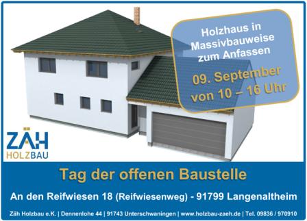Tag der offenen Baustelle in Langenaltheim